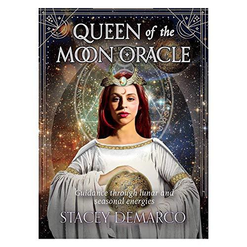 Queen of The Moon Oracle Cards Durable Spaß Brettspiele Tarot-Karten Mystische Guidance Divination Fate-Party-Karte Games- 44pcs