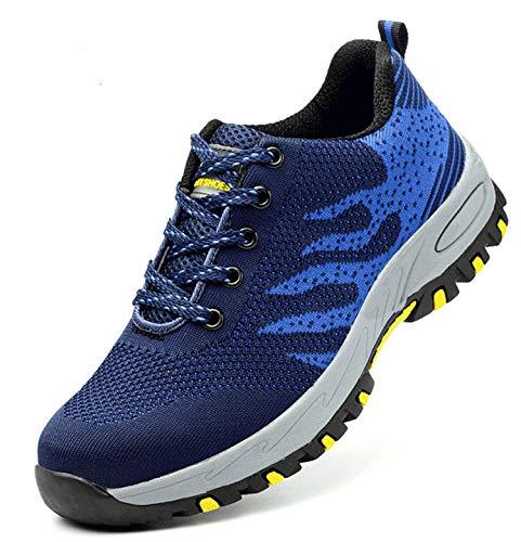 Wasnton Mujer Hombre Zapatillas de Seguridad Deportivos con Puntera de Acero S3 Zapatos de...