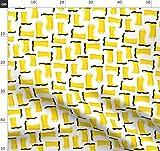 Gelb, Stiefel, Frühling, Modisch Stoffe - Individuell