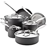 Breville 84477 Hard Anodized Nonstick Cookware Pots and Pans Set, 10 Piece, Gray