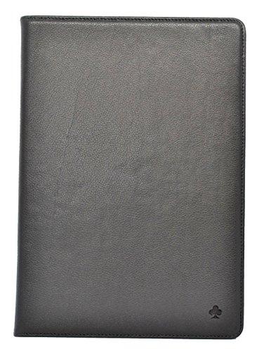 Porter Riley - Lederhülle für iPad Mini 4. Premium Echtleder Standhülle/Cover/Flip kompatibel mit iPad Mini 4 (Pures Schwarz)