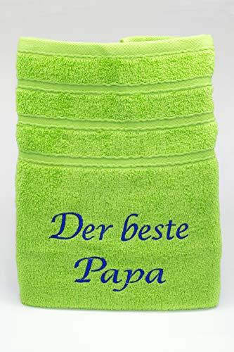 Private - Toalla de mano con bordado de la mejor papá para padre, color verde