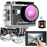 Yarber Action Cam, Touch Screen 4K Ultra HD 170°WiFi 30FPS 20MP Impermeabile 40M Fotocamera con EIS...