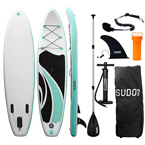 Triclicks Tabla Hinchable Paddle Surf/Sup Paddel Surf con Bomba, Mochila, Aleta Central Desprendible, Kit de Reparación, Remo Ajustable, La Cinta para Atar al Pie(300 * 75 * 15cm-Grosor) (Style 1)