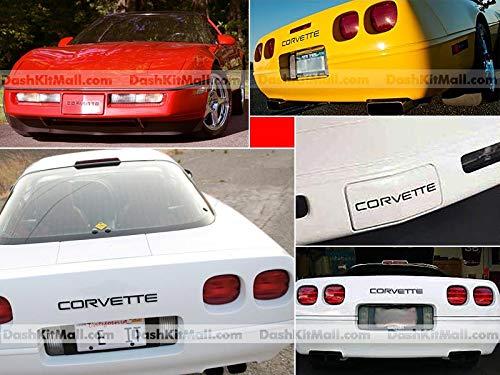 SF Sales USA - Mattschwarze vordere und hintere Stoßstangen-Buchstaben für Corvette C4 1991–1996 Kunststoffeinsätze, keine Aufkleber.