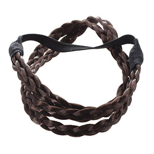 trecce elastiche - TOOGOO(R) Bohemian doppia treccia dei capelli della fascia Plait - Caffe'