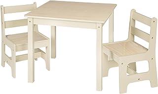 WOLTU 1 Table d'enfant avec 2 chaises pour Enfants d'âge préscolaire Total 3 pièces,SG001 Nature