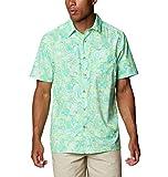 Columbia Super Slack Tide Camp Camisa de Manga Corta para Hombre, Hombre, Super Slack Tide - Camiseta de Campamento, 165376, Color, L
