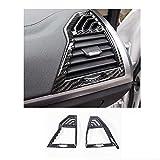 Glingfjz 2 uds ABS Auto Salida de Aire Frontal reajuste Marco embellecedor Cubierta Pegatina decoración Interior para BMW X3 G01 X4 G02 2018-21 Accesorios de Coche