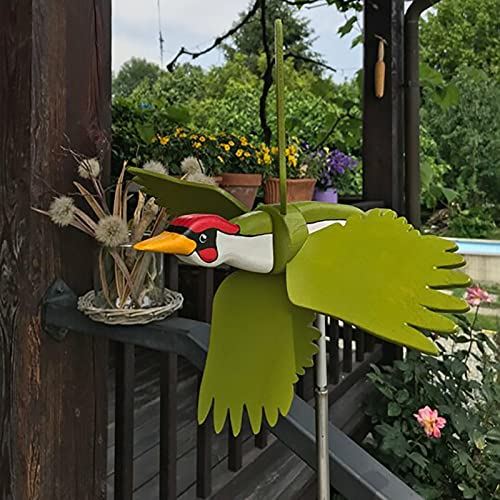 Whirligig-Asuka Series Windmill Fairy Windmills for Garden Ornaments Parrot Windmills Toy for Children Garden Wind Spinners Spring Bee Fairy Weathervanes Gardening Gift for Yard Lawn