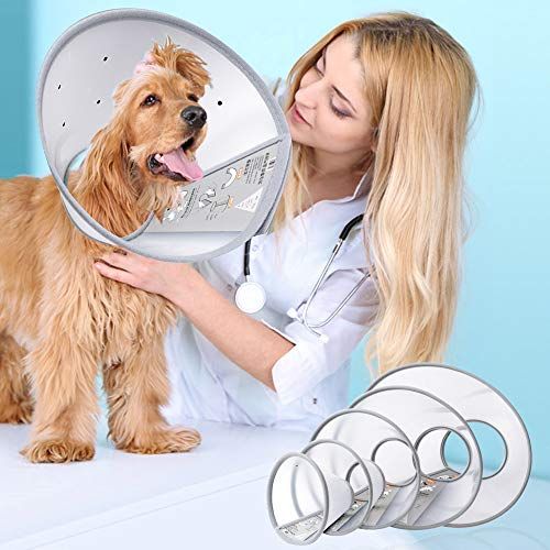 Pet Recovery Dog Cones Cat Cones After Surgery Adjustable Breathable...