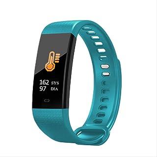 Davide Alisa Reloj Inteligente Pantalla De Color Hombres Fitness Pulsera Corazón Frecuencia Monitor Smart Band Mujeres Ip67 Waterproof Activity Tracker 40 * 20 * 10Mm Sky Blue