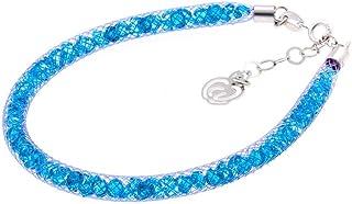 Bracciale Viola in Argento 925 con Cristalli Luminosi Collezione Tennis Colorazione : Viola Azzurro 6A