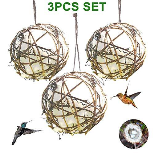 Urisgo Bird Nest Hand Watte Häuser Nest Wicker Pear Drop für Papageien Kleine Haustiere für die Gartendekoration