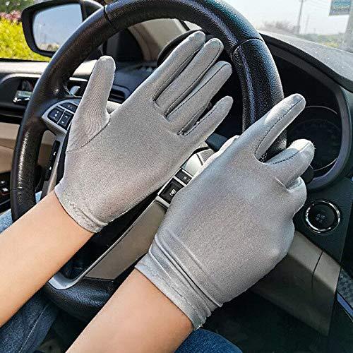 Mode Sommer Spandex Handschuhe für Frauen Männer Anti-Rutsch-Sonnenschutz Etikette Dünne Short Stretch Handschuhe Tanzschmuck Handschuhe-4
