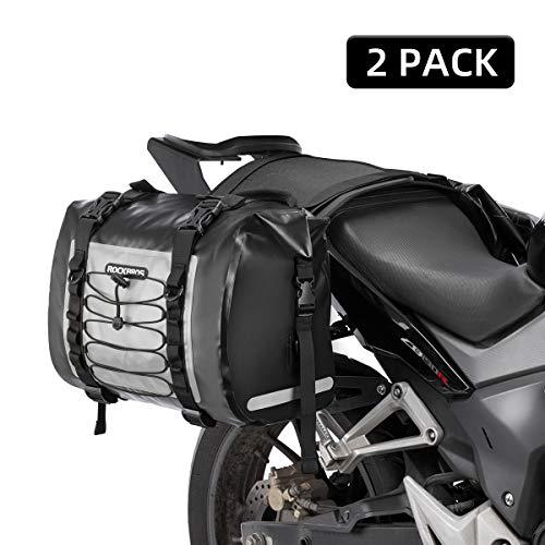 ROCKBROS Motorcycle Saddle Bag Waterproof Side Bag For Honda Yamaha Suzuki Motorcycle Saddlebags Pack Removable Detachable Bag (2 PCS)