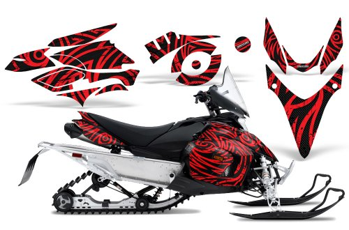 CreatorX Graphics Kit Decals Stickers for Yamaha Phazer Rtx Gt Mtx Snowmobile Sled TribalZ Red
