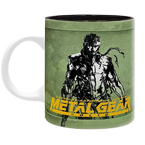 Metal Gear Solid - Taza - Logo Fox Hound - Taza de café - Solid Snake - Mug - Cerámica - Caja de regalo
