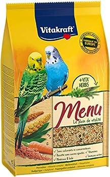 Vitakraft Menu - Alimentation complète pour Perruches - Lot de 5 sachets fraîcheur de 900gr