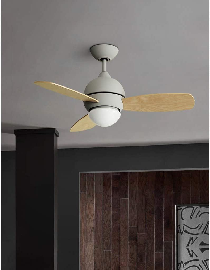 Amazon Com Height Adjustable Ceiling Fan With Light And Remote Control Inustrial Matte Iron Frame With 3 Reversible Plastic Blades 3 Speed Timing Function Color Gray Furniture Decor