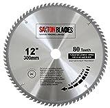 Saxton Lama da legno per sega circolare, 300 x 30 mm, con 80 denti in carburo di tungsteno, per...