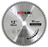 <span class='highlight'>Saxton</span> TCT Circular Wood Saw <span class='highlight'>Blade</span> 300mm x 30mm 80T for Bosch, Makita etc Fits 305mm Saws