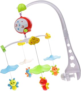 Perfeclan Baby Kids Bed Bell Musical Nursery Mobiles Crib Cot Bed Ring Bell Rotatable Toy