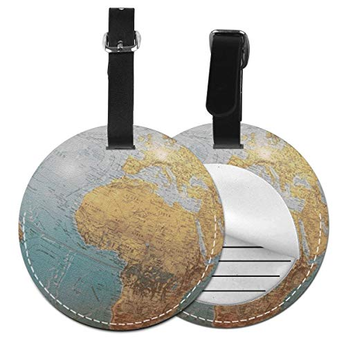 Luggage Tags Globe Suitcase Luggage Tags Business Card Holder Travel ID Bag Tag