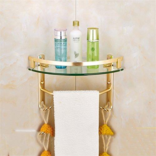 Salle de bains Étagère Salles de bains Salle de douche Tripod Salle de douche Space Aluminium Towel Rack/salle de bains (taille : One Layer)