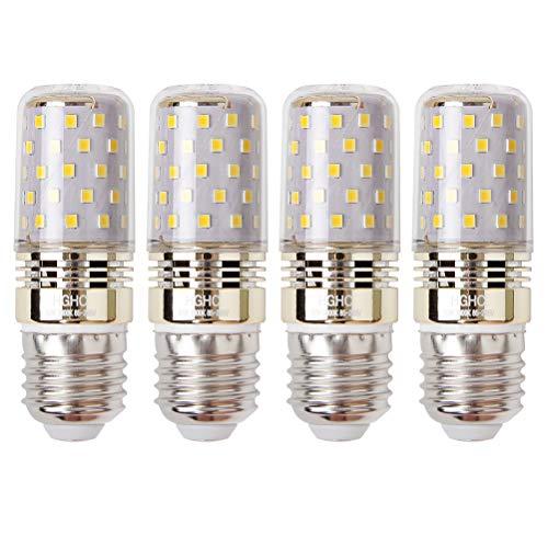 HGHC Lampadina di Mais LED E27 12W, Luce Bianca Calda 3000K, Equivalente a Lampadine a Incandescenza 100W, 1200 Lumen, Lampadine a LED a Vite Edison, Lampadine a candela (4-Pack)