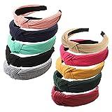 FOLAI Headbands for Women 10 Packs Fabric Hair Band Accessories Elastic Head Wrap Cute Outdoor Hair Accessories