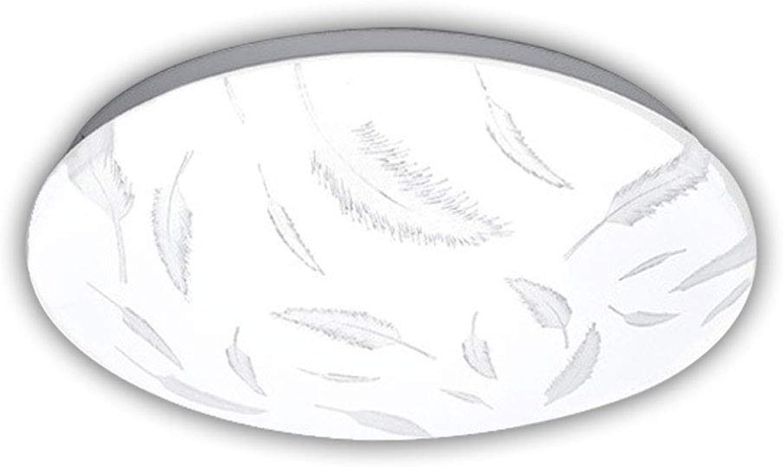 CHENSQ LED Deckenleuchte 36W stufenlos dimmbarer Kronleuchter Balkon Bad Flurbeleuchtung (Feder)
