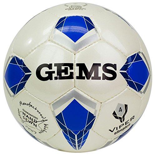 GEMS Pallone da Calcio Viper Olimpico 4 (Azzurro)