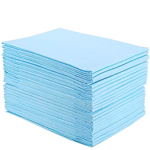 Disposable Incontinence Bed Pads, Homkare Disposable Underpads, 1500ml Maximum Absorbency Disposable Waterproof Bed Pads, Disposable Pads for Adult, Kids or Baby (23 * 36 inch 30 Pads)