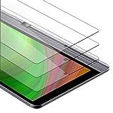 Cadorabo Película de Armadura 3X Compatible con Lenovo Yoga Tab 3 Pro (10.1') - película Protectora en Transparencia ELEVADA Paquete de Vidrio Templado en dureza 9H con compatibilidad táctil 3D