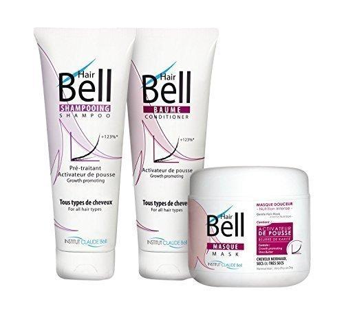 Packung Trio Hairbell Aktivator schießen aus haare Shampoo +Balsam+Maskiert