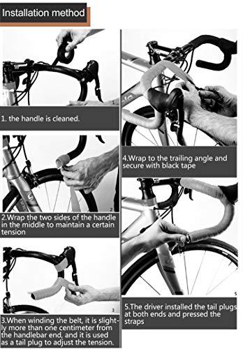 TOPCABIN® Camouflage Serie Comfort GEL Road Bike Lenker Band Bike Lenkerband mit reflektierenden Bar Plugs - 4