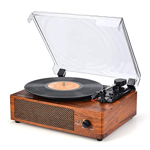 Record Player Turntable for Vinyl Records 3 Speed Vinyl Record Player with Stereo Speakers Belt Driven Vintage Record Player Vinyl Player Music Vinyl Turntable