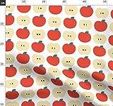 Apfel, Obst, Retro Stoffe - Individuell Bedruckt von