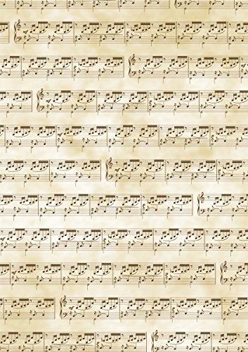 """Baier & Schneider Transparent-Papier Transparentpapier \""""Noten\"""" DIN A4 quer, DIN A4 (21x31cm), 115 g/m²"""