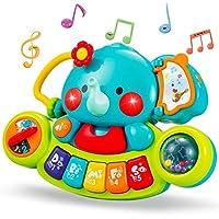 ライフ小屋 ピアノおもちゃ 象 楽器玩具 鍵盤楽器 多機能 キーボード 音楽おもちゃ 電子ピアノ キッズピアノ 教育玩具 指先訓練 子供の誕生日ギフト 祝い プレゼント