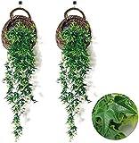 HUAYQ 2 Piezas de Hiedra Artificial Verde para Colgar Plantas de Hojas Plantas Falsas al Aire Libre para Instalar cestas Colgantes y Paredes decoración de la casa