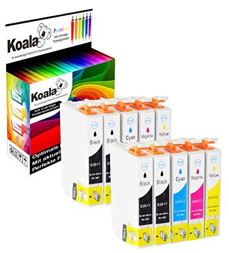 Koala 10 Tintenpatronen kompatibel für Epson T0611 T0612 T0613 T0614 für Epson Stylus D68 D68PE D88 D88PE D88Plus DX3800 DX3850 DX3850 Plus DX4200 DX4250 DX4800 DX4850 DX4850 4*BK 2*C 2*M 2*Y