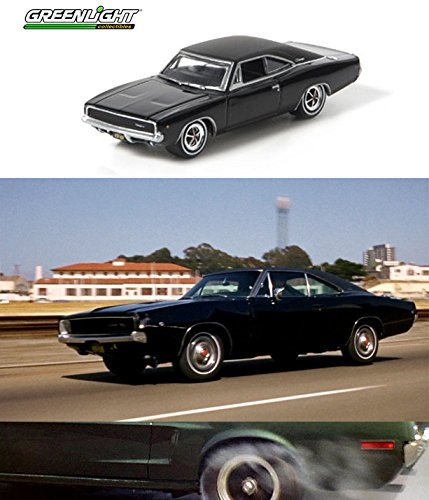 Steve Mcqueen Set Hollywood Movie Series 2 Car Set - Greenlight 1968 Dodge Charger & Bullitt's 1968 Ford Mustang Gt by Greenlight Hollywood
