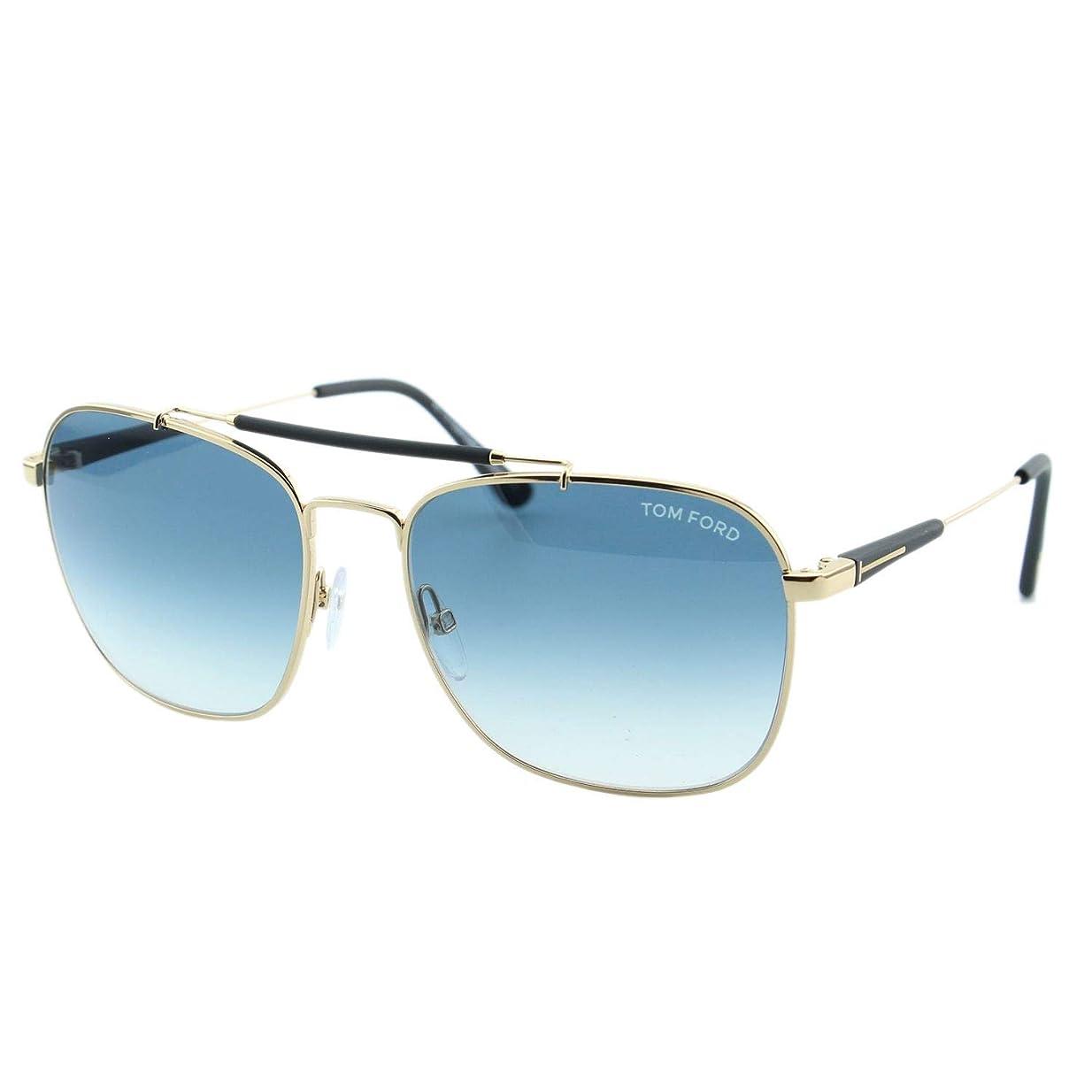 香り不定否認するFT0377 28W Shiny Rose Gold, Matte Black / Gradient Turquoise Lenses