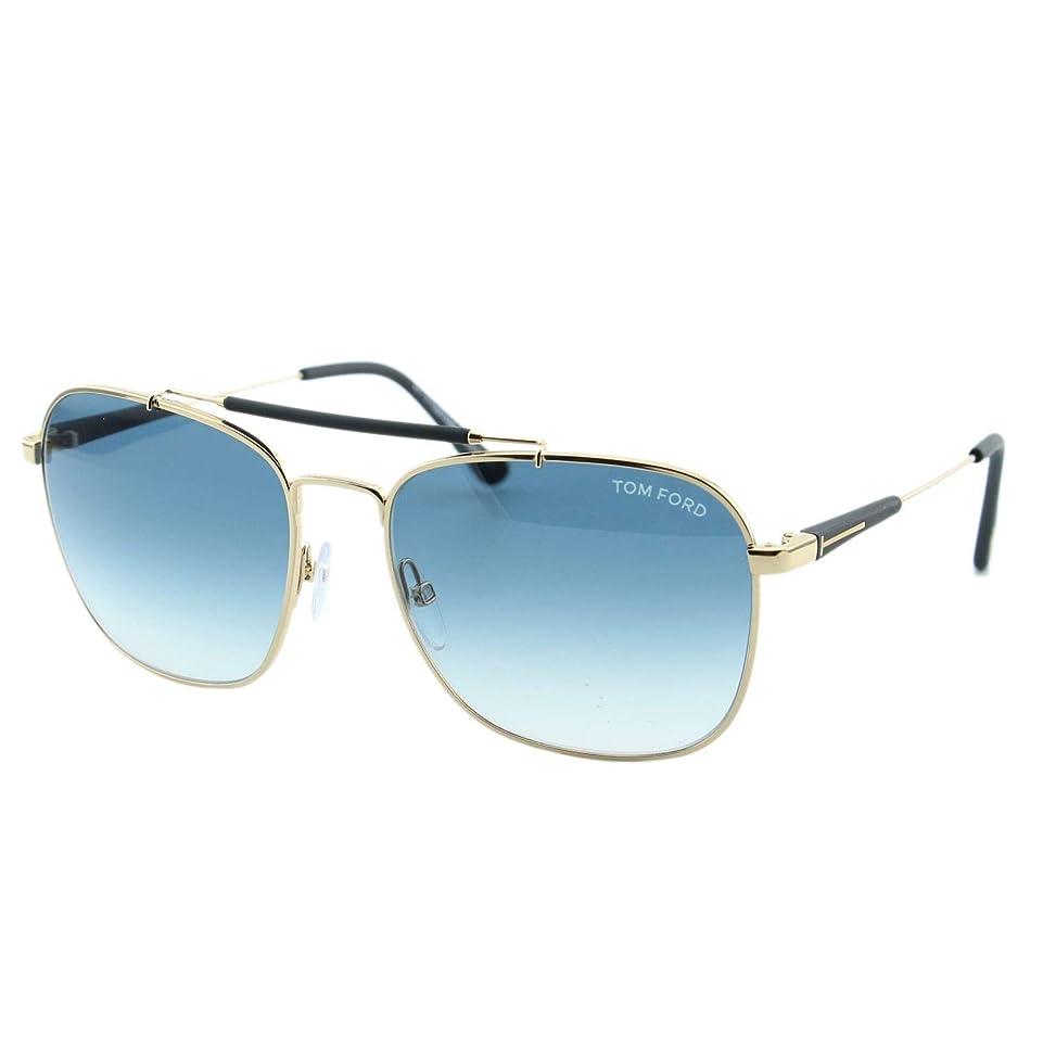 ロースト燃やすシソーラスFT0377 28W Shiny Rose Gold, Matte Black / Gradient Turquoise Lenses