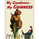 NOT My Goodness My Guinness Tin Signs Metal Poster Warning Sign Decor for Garage Home Garden Retro Tin Sign Wall Birthday Party Bar Cafe Kitchen