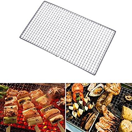 11.817.7, 1pack farrubbyine8 Stainless Steel Silver Barbecue Grill Grates Replacement Grill Grids Mesh Wire Net Outdoor Cook Party