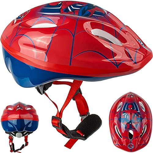 alles-meine.de GmbH Kinderhelm / Fahrradhelm - Spider-Man - Gr. 52 - 56 - Circa 3 bis 15 Jahre - Größen verstellbar / mitwachsend - TÜV geprüft - Helm - für Roller und Dreirad La..