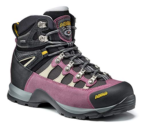 Asolo Women's Stynger GTX Hiking Boot Grapeade/Gunmetal 7 & Knit Cap Bundle